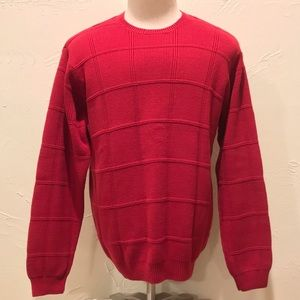 Arrow Mens Size Medium Cable Knit Red Sweater L/S